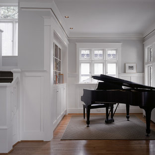 Inspiration for a small timeless living room remodel in Seattle with a music area