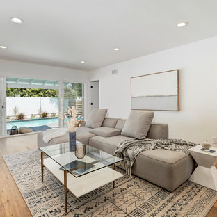 Living room - eclectic living room idea in Los Angeles