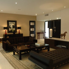 Modern Living Room by bryan wark designs, Inc.