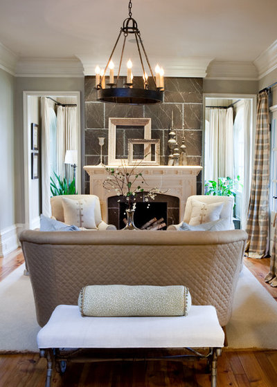 Traditional Living Room by sherry hart