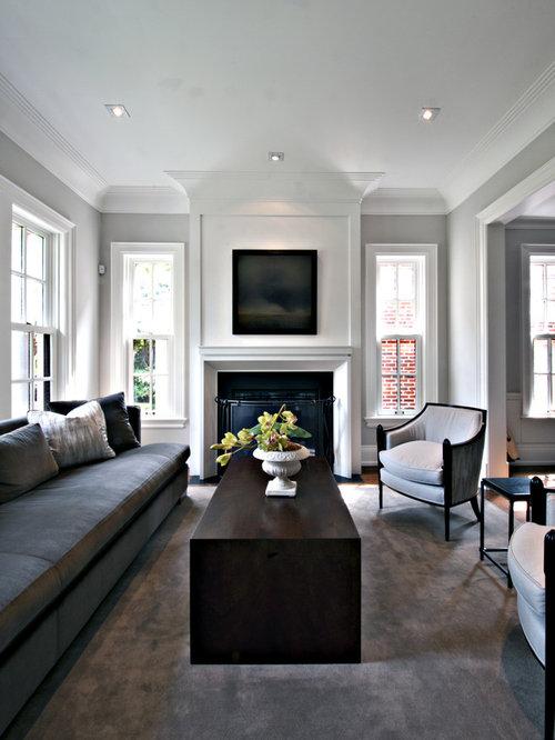 gray crown molding home design ideas renovations photos