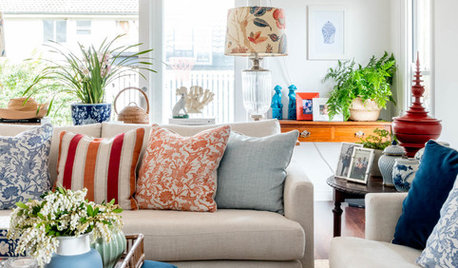 Room of the Week: A Colourful, Curated Family Living Area