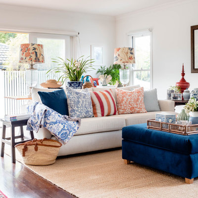 Eclectic Living Room by Berkeley Interiors