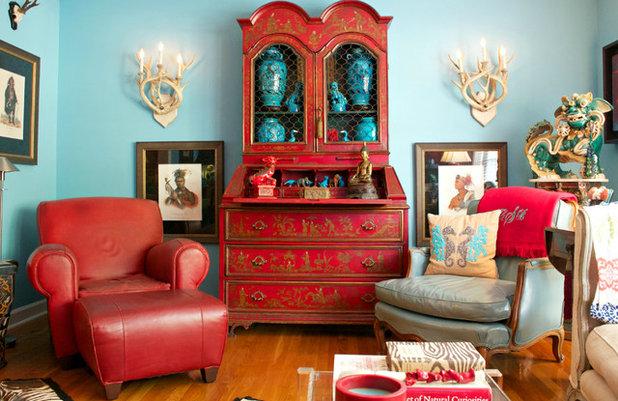 Asian Living Room by Mina Brinkey