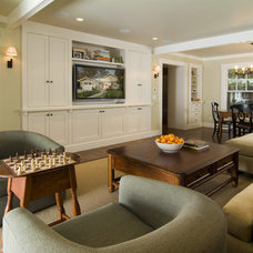 Traditional Living Room by FGY Architects