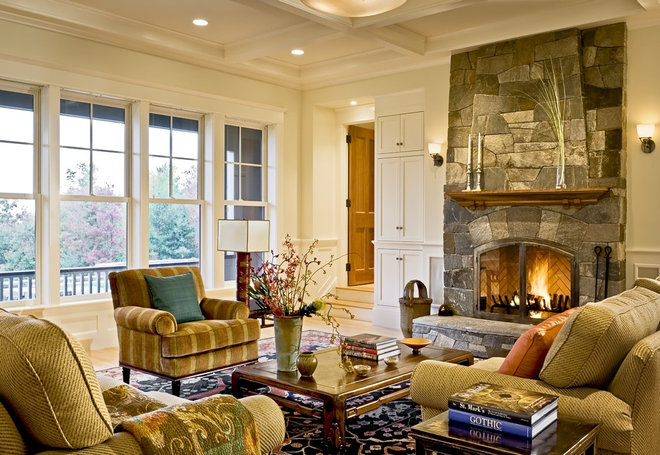 Traditional Living Room by Smith & Vansant Architects PC