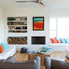 Beach Style Living Room by MRB Contracting
