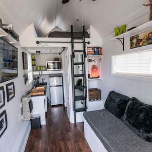 Small eclectic living room photo in Other