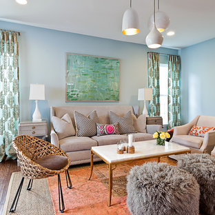 Eclectic living room photo in Charlotte