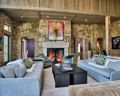 best rustic living room design ideas  remodel pictures  houzz, Living room