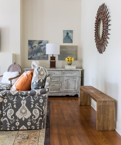 Traditional Living Room by Valorie Hart