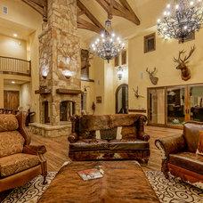 Mediterranean Living Room by Barron Custom Design, LLC