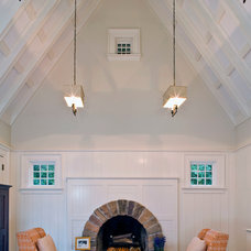 Transitional Living Room by Vanco Construction Inc.