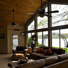 Traditional Living Room by Daugherty Construction