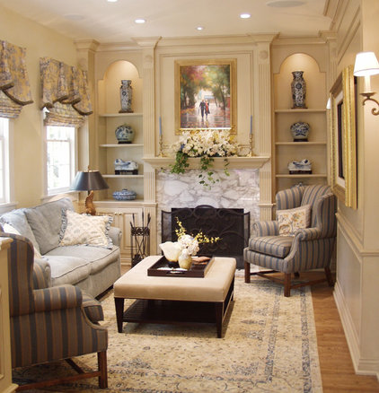 Traditional Living Room by Reaume Construction & Design