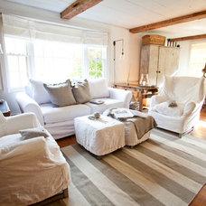 Farmhouse Living Room by Tess Fine