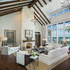 Transitional Living Room by Gail Carlson Interiors, Inc
