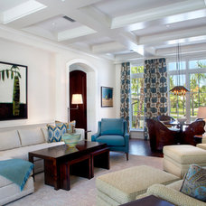 Tropical Living Room by Collage Designs