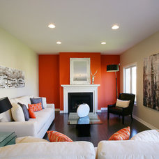 Contemporary Living Room Sifton Model Homes