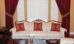 Silk Drapes with Overlay