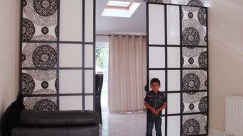 Silk Shoji Room Divider