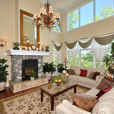 Traditional Living Room by Design Basics Home Plans