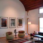 Living Room in Penthouse Modern Living Room Portland