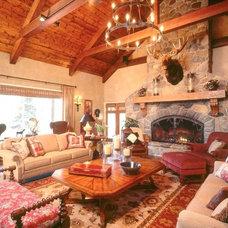 Traditional Living Room by Martha O'Hara Interiors