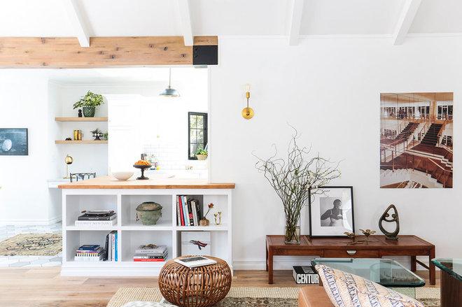 Beach Style Living Room by STEFANI STEIN