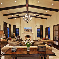 Mediterranean Living Room by Hendricks Construction