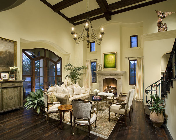 Traditional Living Room by PHX Architecture