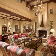 Traditional Living Room by Samartzis Minchew Design, LLC
