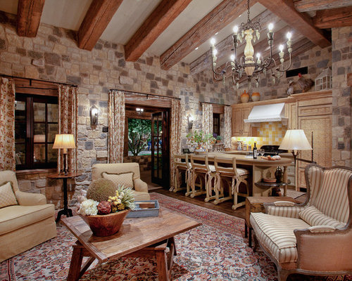 Family Room Design Ideas center family room design ideas with fireplace Example Of A Mountain Style Family Room Design In Phoenix