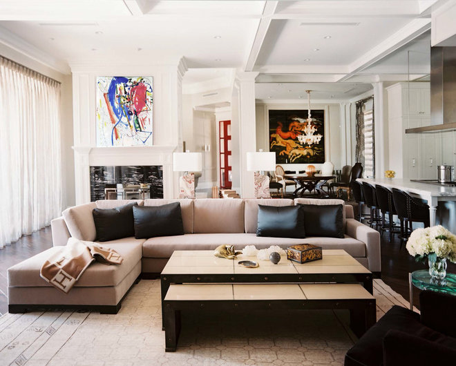 Contemporary Living Room by Jamie Herzlinger