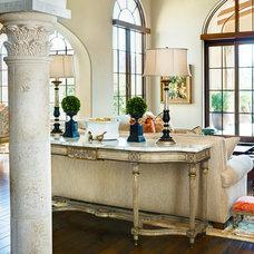 Mediterranean Living Room by Janet Brooks Design