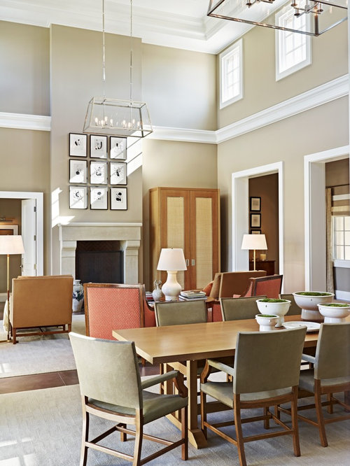 Two story living room houzz Two story living room decorating ideas