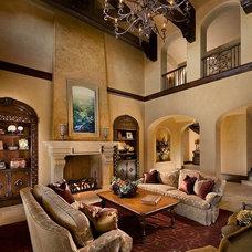 Mediterranean Living Room by Calvis Wyant Luxury Homes