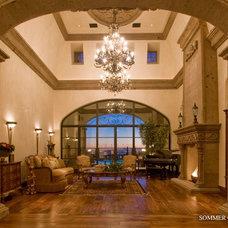 Mediterranean Living Room by SOMMER CUSTOM HOMES