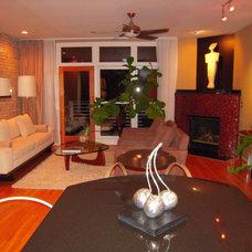 Contemporary Living Room by Simone Alisa