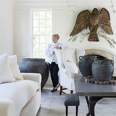 Transitional Living Room by Rizzoli New York
