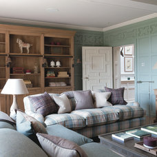 Farmhouse Family Room by Sims Hilditch