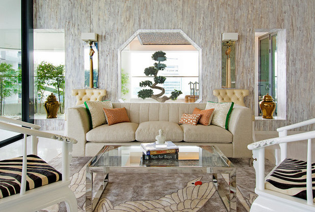 Asian Living Room by DESIGN INTERVENTION