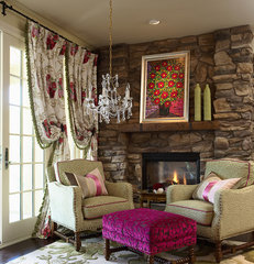 eclectic living room by CIH Design