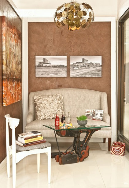 Industrial Living Room by Margeaux Interiors - Margaret Skinner