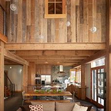 Rustic Living Room by Gerber Berend Design Build, Inc.