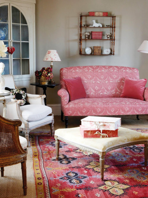 Pink And Taupe Living Room Design Ideas Remodels Photos