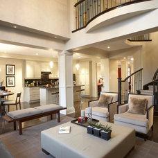 Contemporary Living Room by David Nosella Interior Design