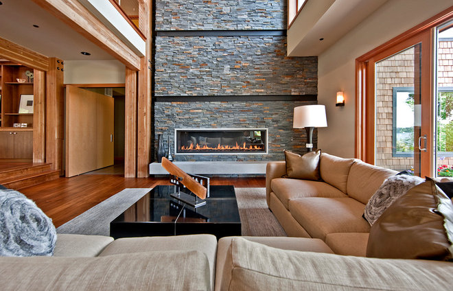 Contemporary Living Room by Six Walls Interior Design