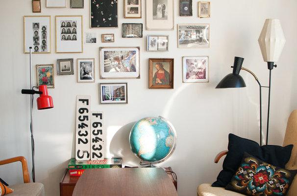 Midcentury Living Room by Hilda Grahnat