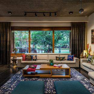 Foto de salón de estilo zen grande